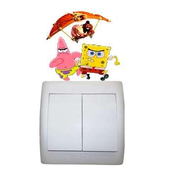 استیکر مستر راد طرح باب اسفنجی و پاتریک کد 007 SpongeBob