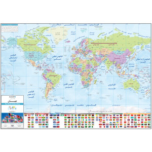 نقشه سیاسی جهان انتشارات ایرانشناسی کد 287