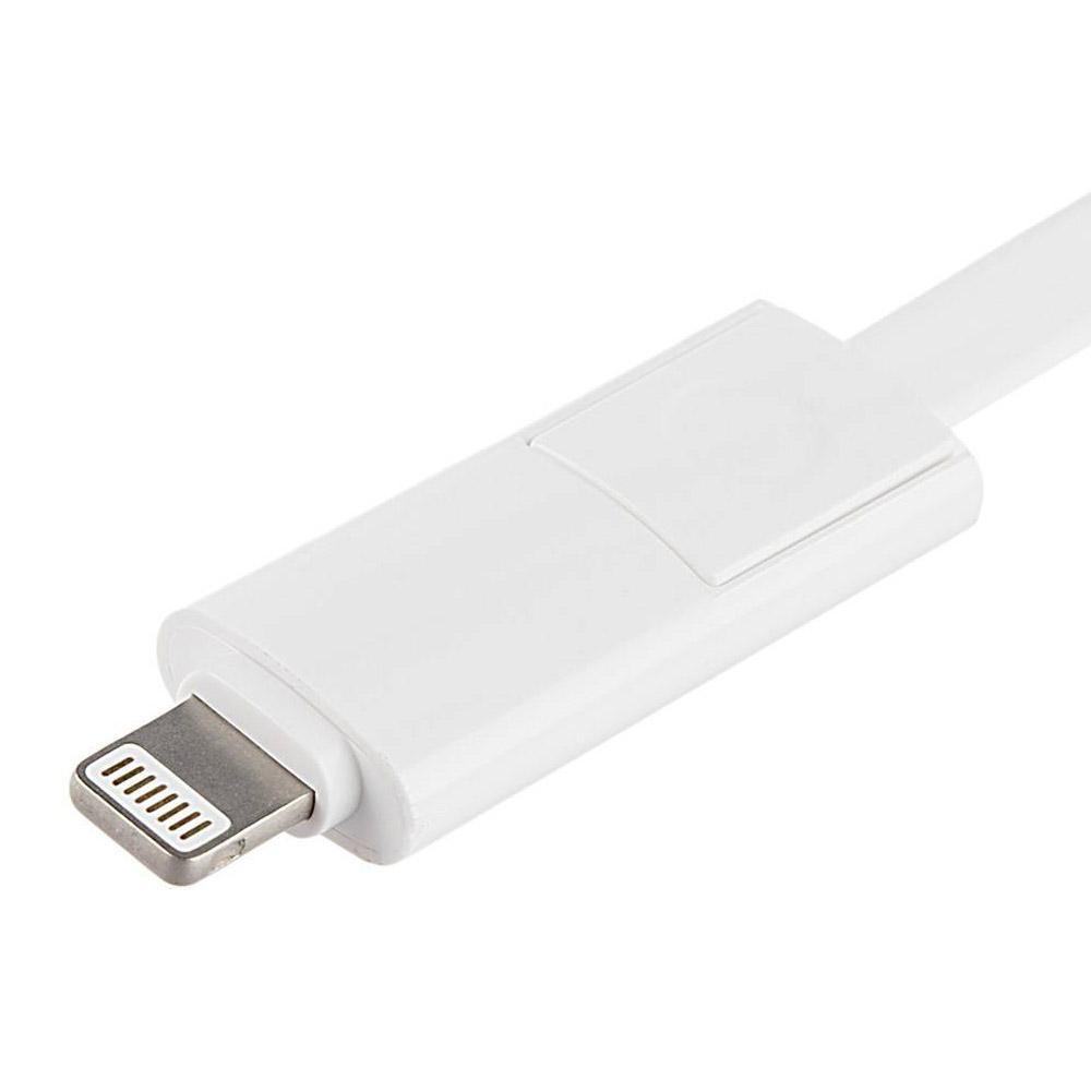 کابل تبدیل USB به لایتنینگ/microUSB آران مدل B10M6 طول 1 متر main 1 3