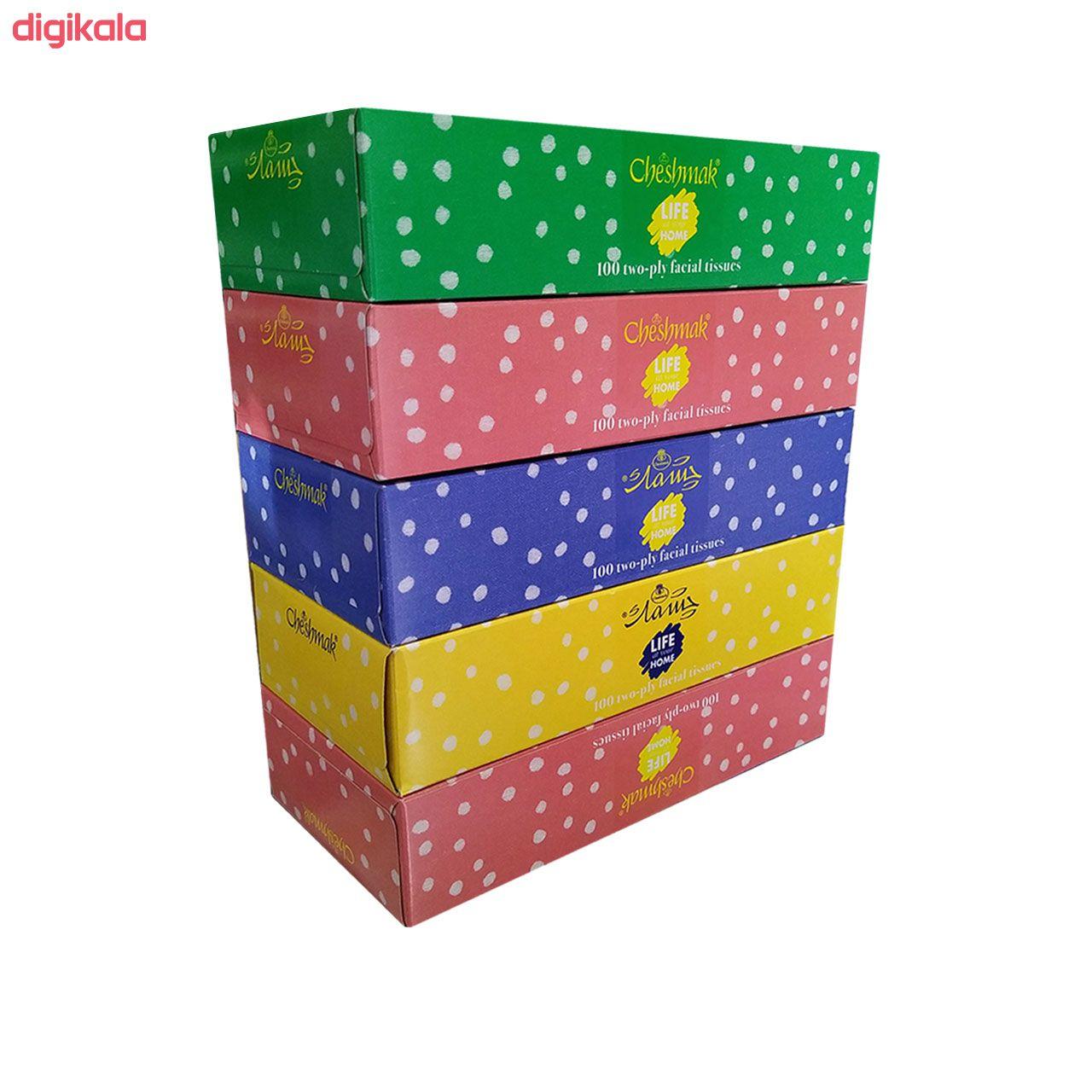 دستمال کاغذی 100 برگ چشمک مدل Spotted بسته 5 عددی main 1 3