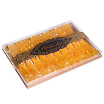 نبات چوبی کریستال زعفرانی زعیم بسته 19 عددی