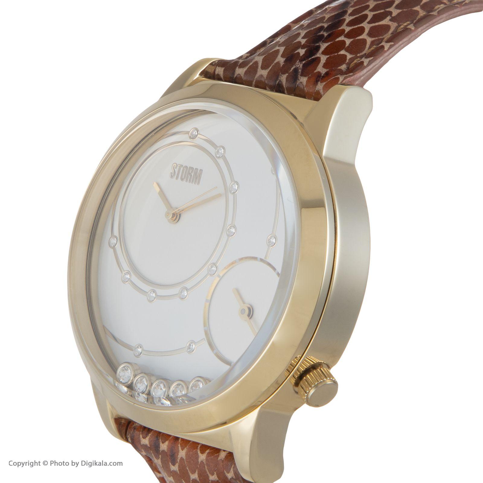ساعت مچی عقربه ای زنانه استورم مدل ST 47128-GD  -  - 5
