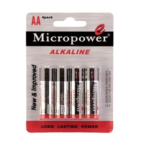 باتری قلمی میکرو پاور کد ۳۵ بسته ۴ عددی
