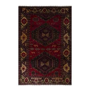 فرش قدیمی دستباف دو و نیم متری طرح عشایری مدل H38