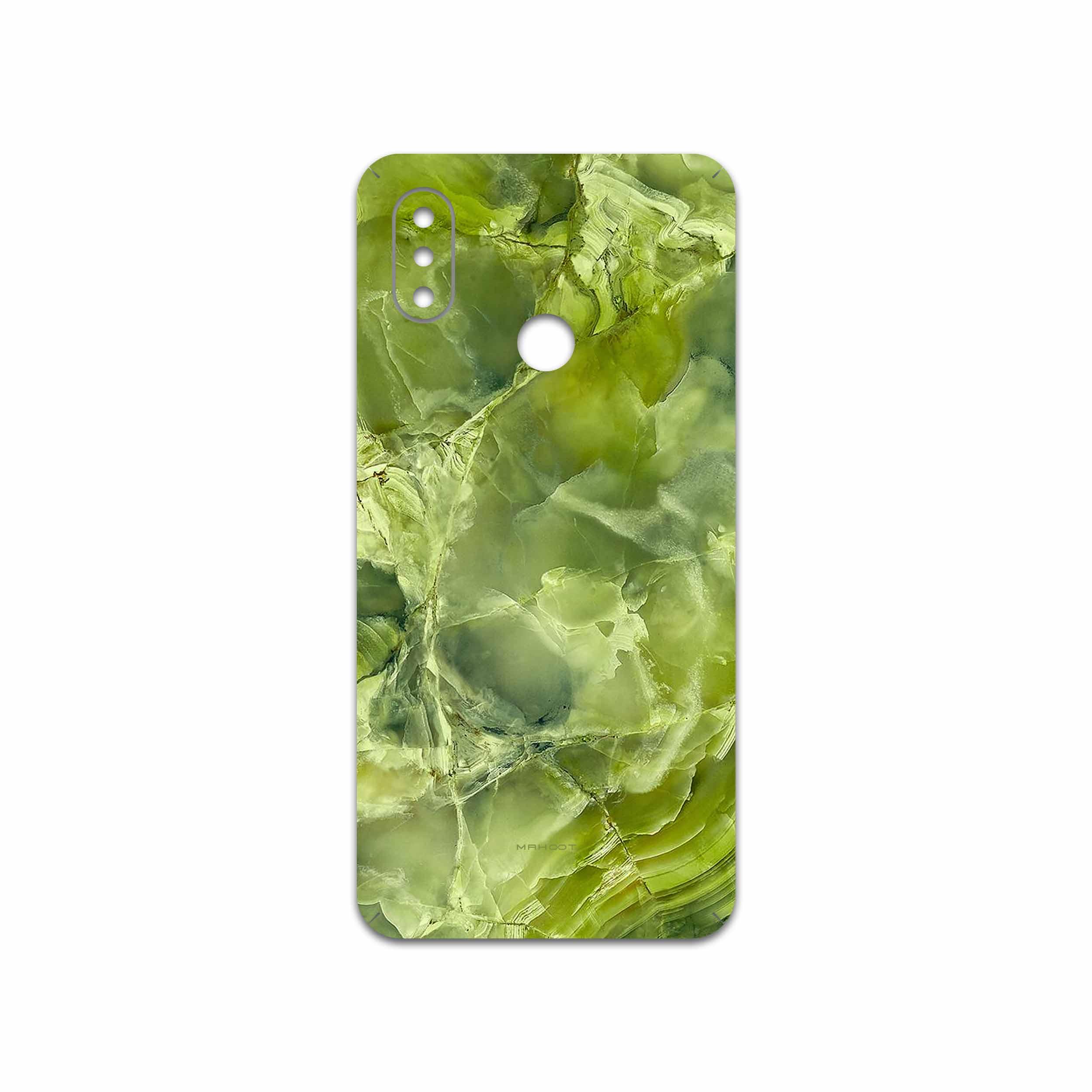 برچسب پوششی ماهوت مدل Green Crystal Marble مناسب برای گوشی موبایل شیائومی Mi 8