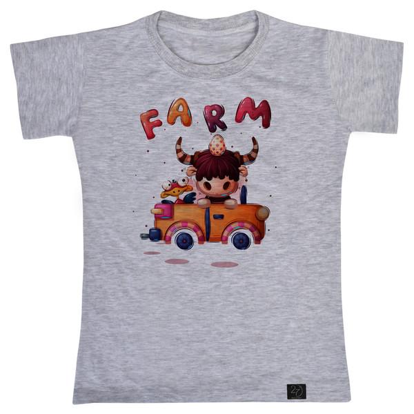 تی شرت پسرانه 27 طرح FARM کد J20