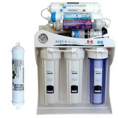 دستگاه تصفیه کننده آب آکوآ اسپرینگ مدل UF-SF4000 به همراه فیلتر یخچال ساید بای ساید
