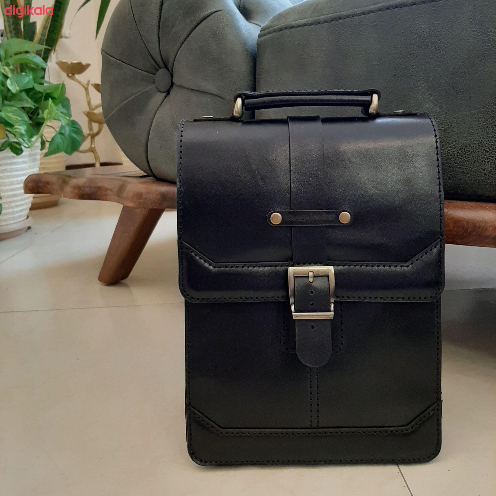 کیف دوشی مردانه چرم روژه مدل ES01B main 1 1
