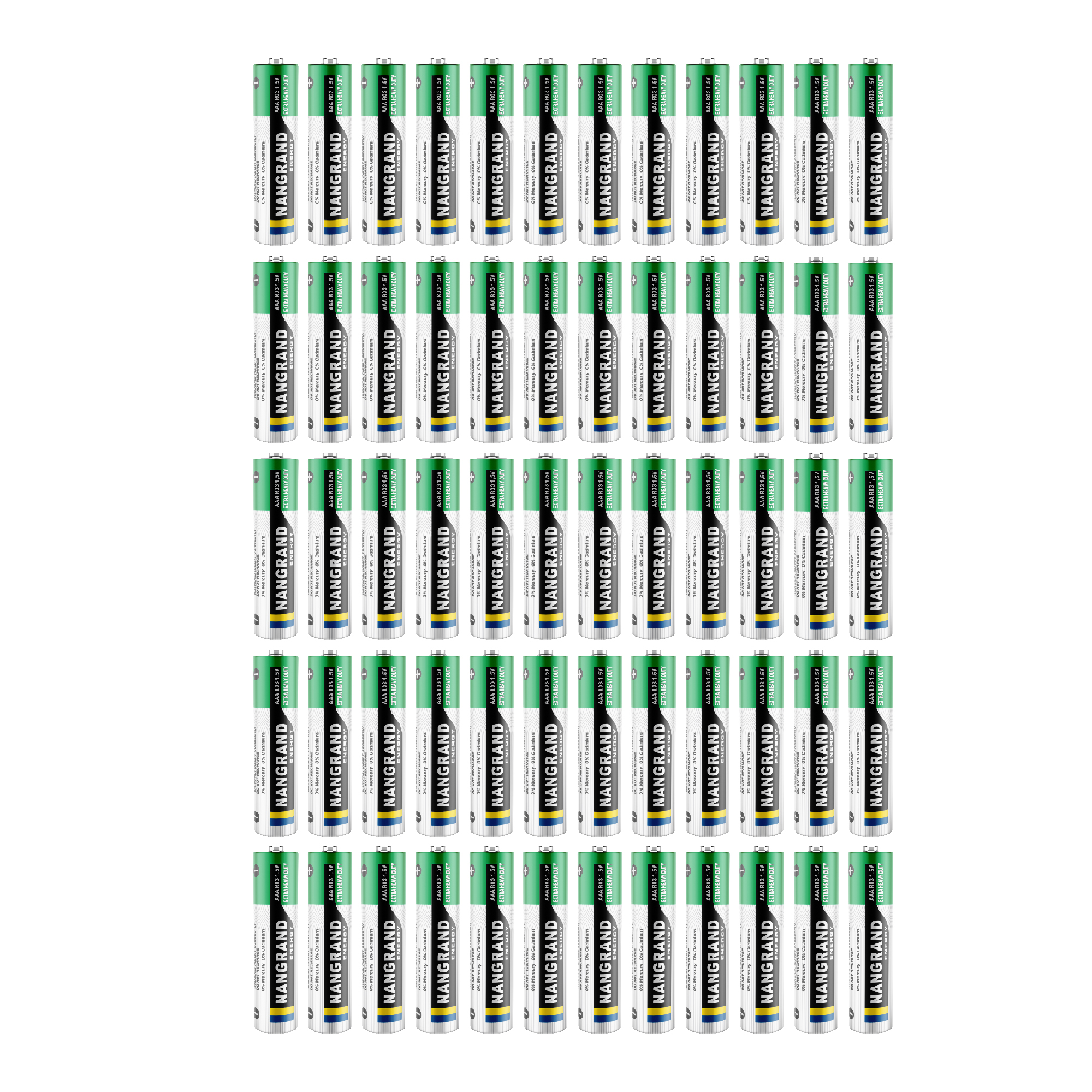 بررسی و {خرید با تخفیف} باتری قلمی نانگرند مدل Extra Heavy Duty بسته 60 عددی اصل
