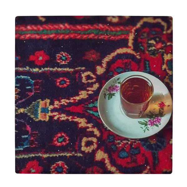 کاشی کارنیلا طرح استکان و نعلبکی چایی کد wk4543