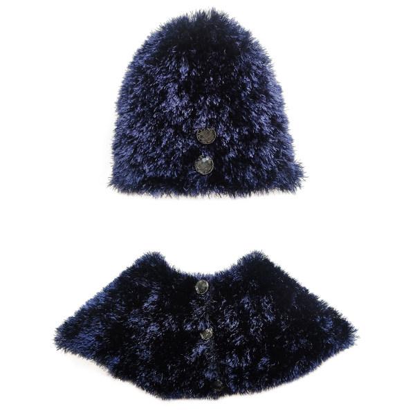 ست کلاه و شال گردن بافتنی زنانه مدل  T-6925