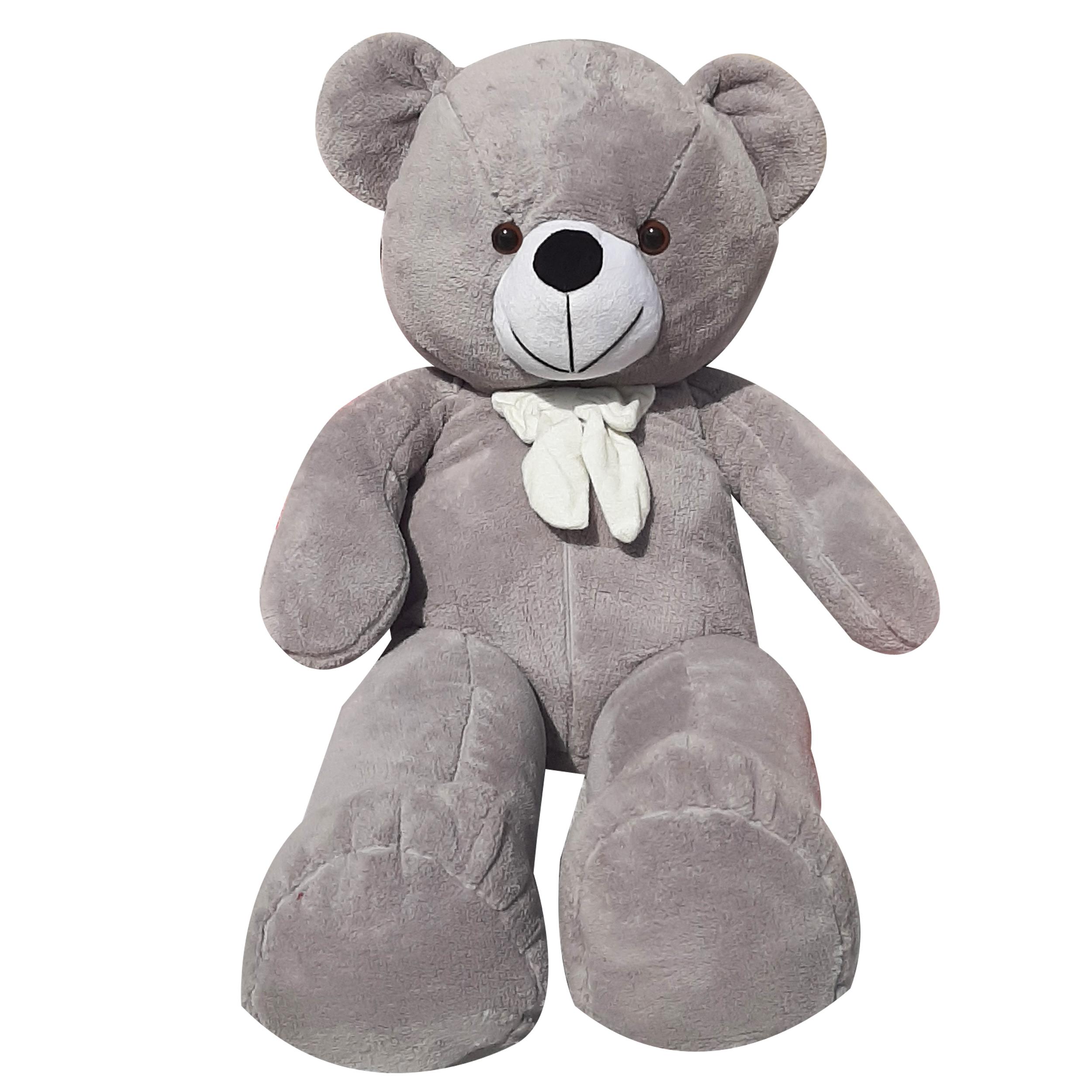 عروسک طرح خرس پاپیونی کد 6 ارتفاع 100 سانتی متر