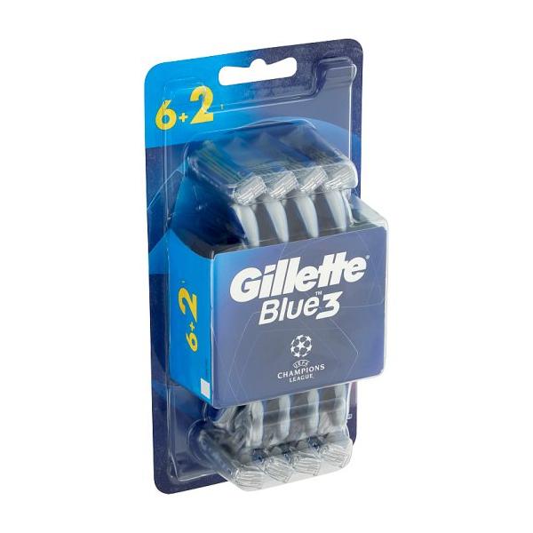 خود تراش ژیلت مدل Blue3 Champions بسته 8 عددی