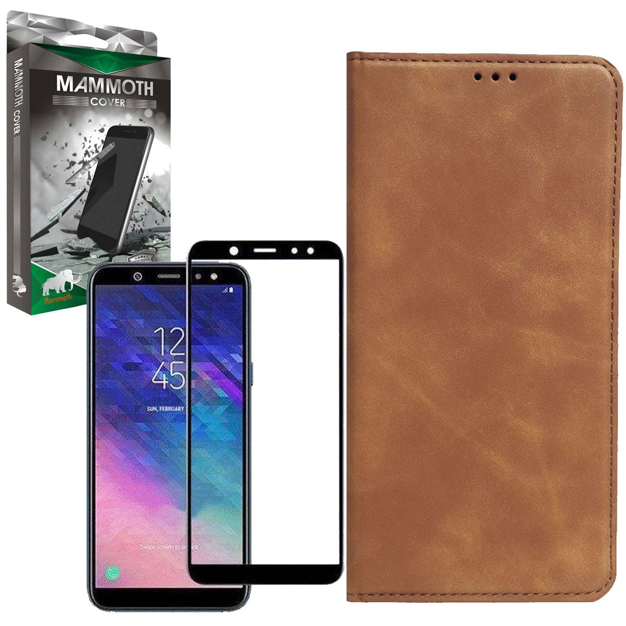 کیف کلاسوری ماموت مدل KLSR مناسب برای گوشی موبایل سامسونگ Galaxy A6 Plus به همراه محافظ صفحه نمایش
