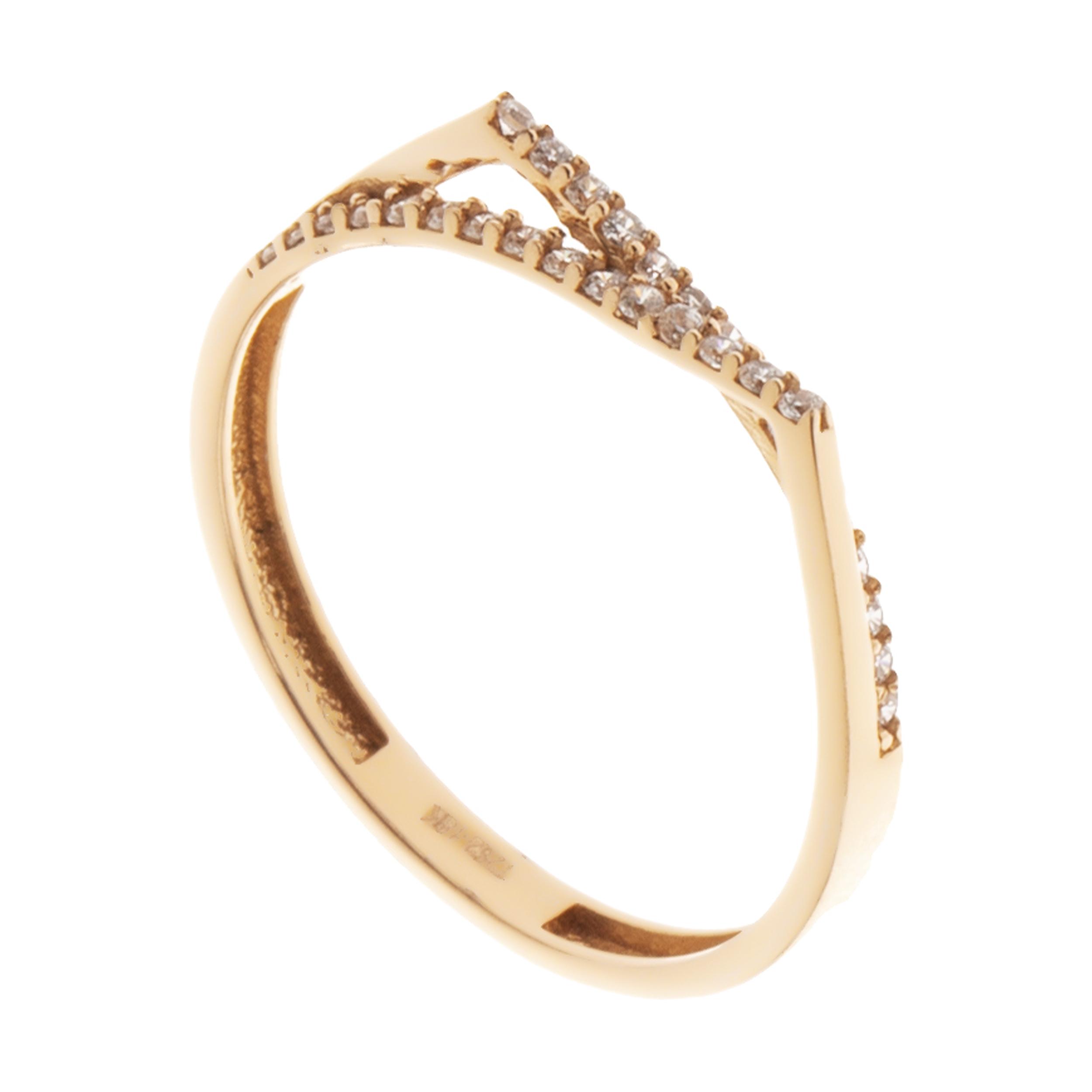 انگشتر طلا 18 عیار زنانه مایا ماهک مدل MR0577