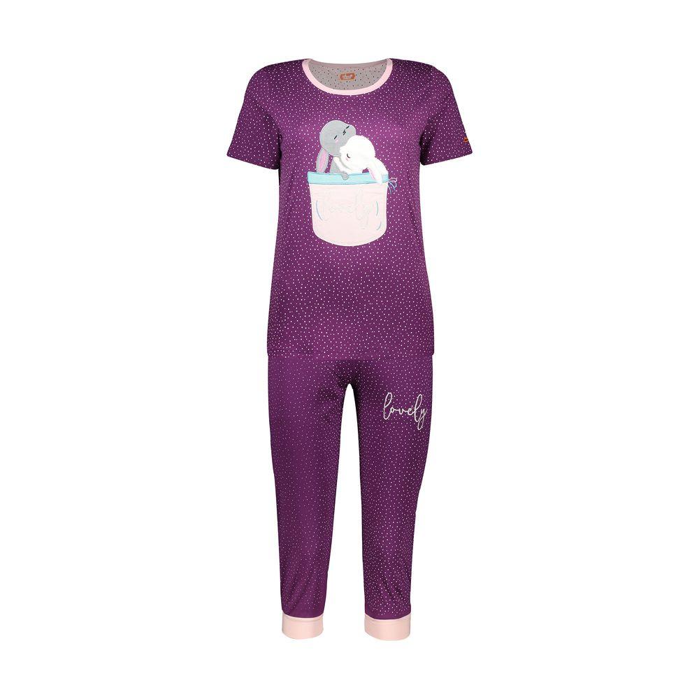 ست تی شرت و شلوارک راحتی زنانه مادر مدل 2041102-67