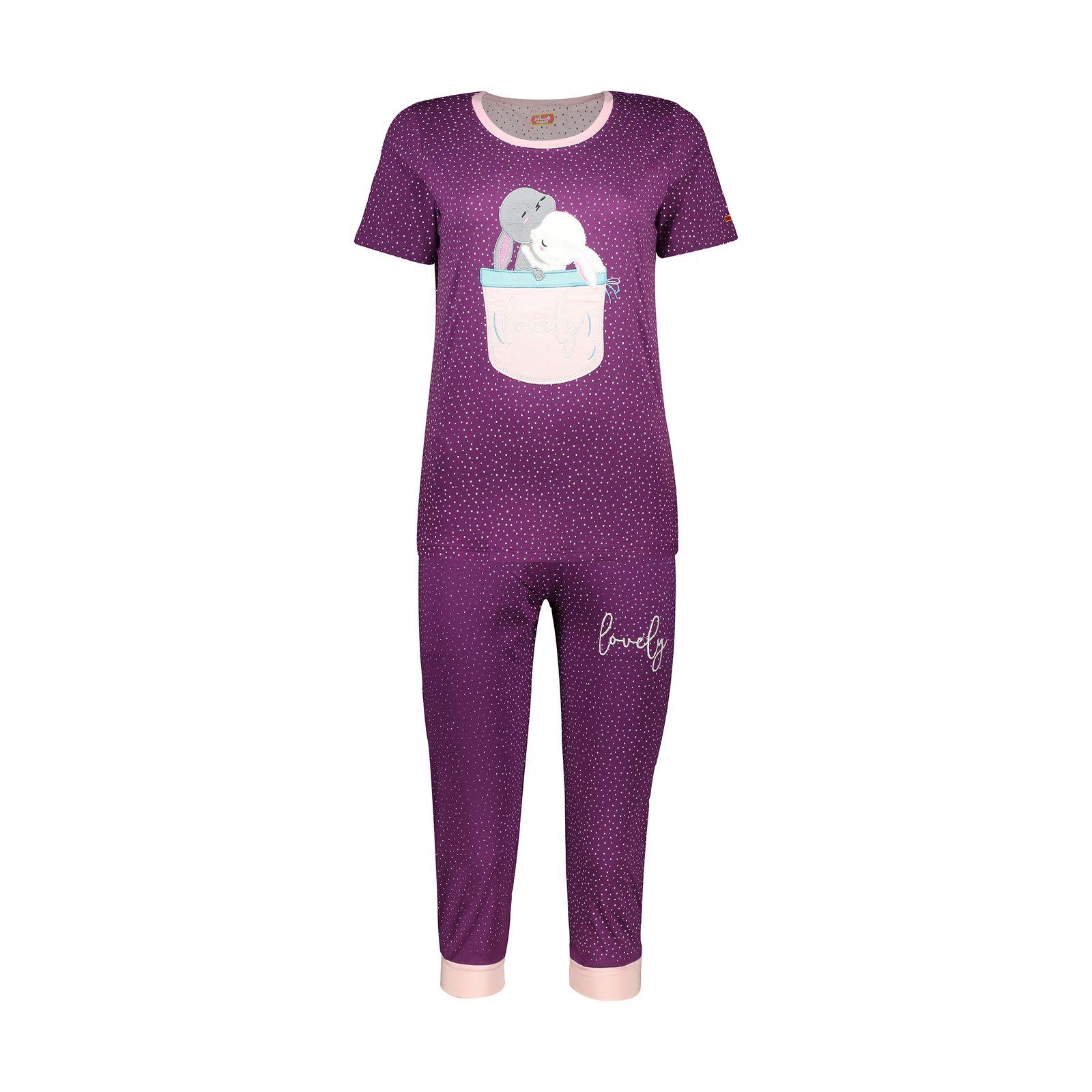 ست تی شرت و شلوارک راحتی زنانه مادر مدل 2041102-67 -  - 2