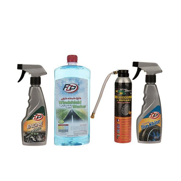 مجموعه چهار عددی تمیز کننده خودرو  اف سی پی