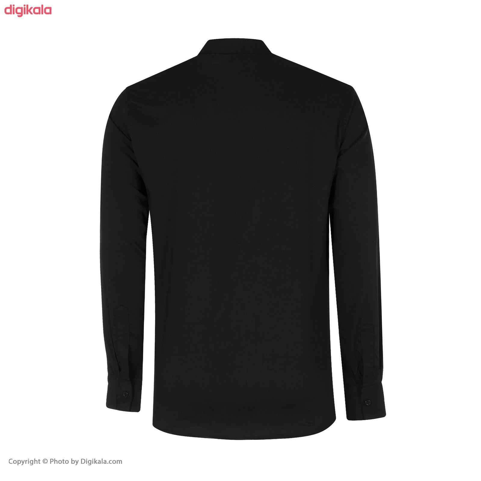 پیراهن مردانه مدل PVLF-B-M-9903 رنگ مشکی main 1 3