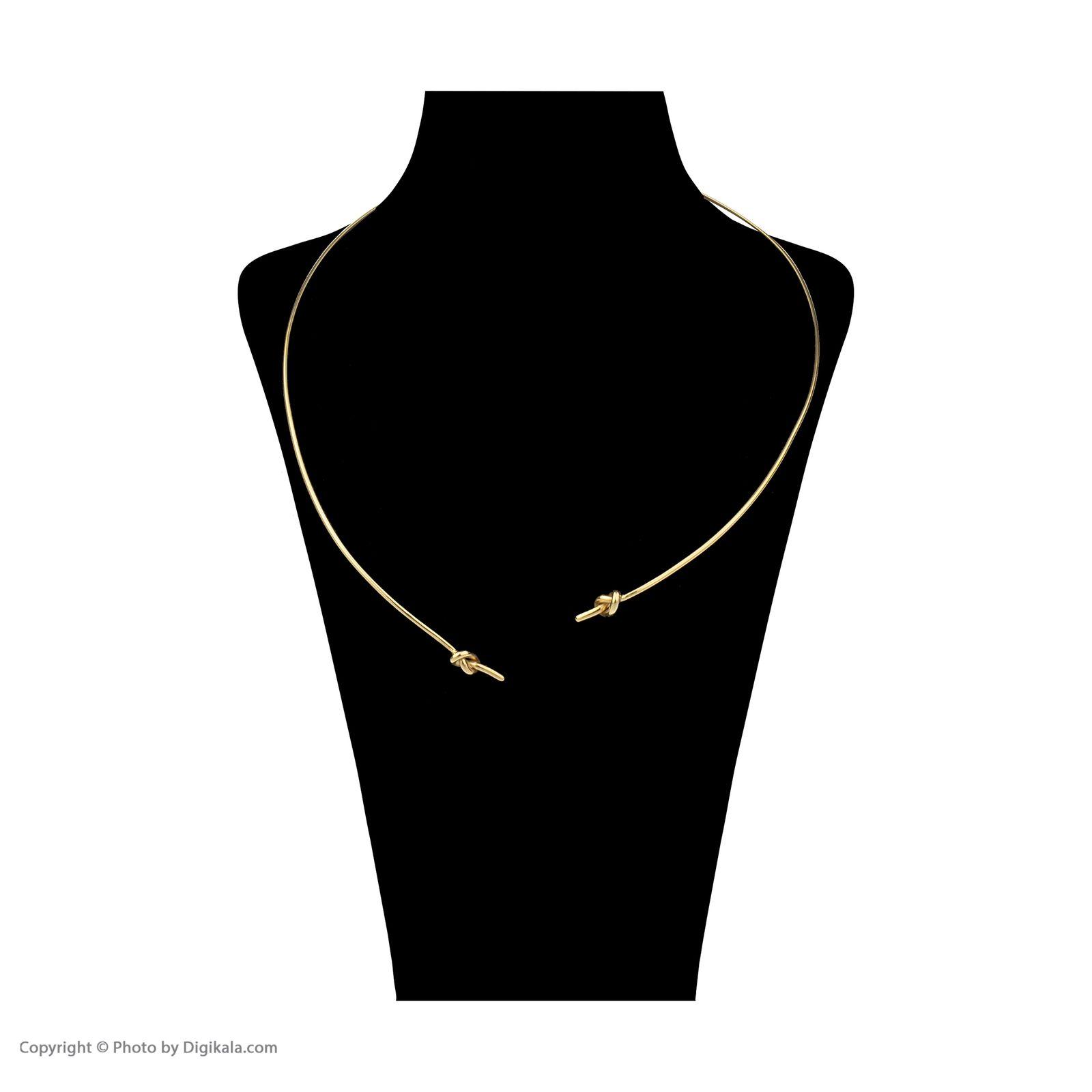 گردنبند طلا 18 عیار زنانه سنجاق مدل x026205 -  - 2