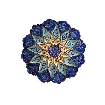 بشقاب میناکاری مدل گل کد 11