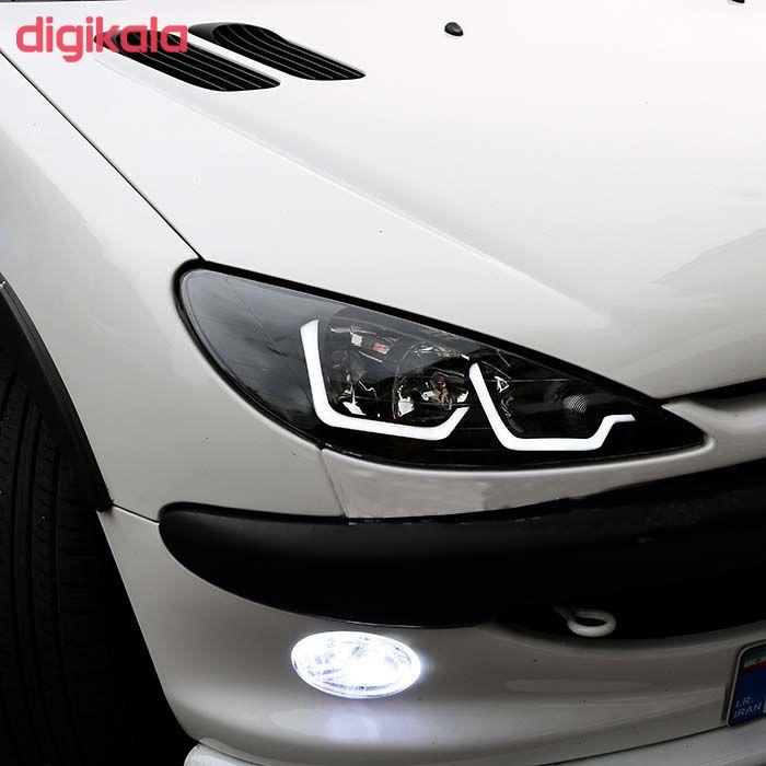 چراغ جلو خودرو مدل pe-001 مناسب برای پژو 206 بسته 2 عددی main 1 2
