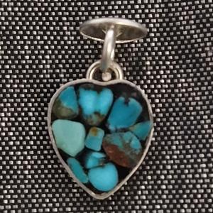 آویز گردنبند نقره زنانه سلین کالا طرح قلب مدل فیروزه ce-new246