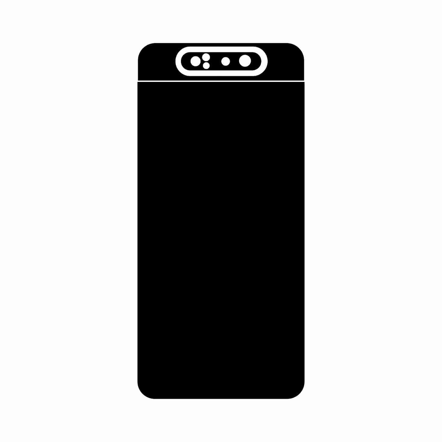 برچسب پوششی مدل 1004 مناسب برای گوشی موبایل سامسونگ Galaxy A80