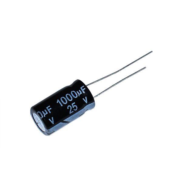 خازن الکترولیت 1000 میکرو فاراد مدل 25 ولت بسته 2 عددی