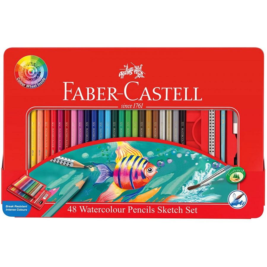 مداد آبرنگی 48 رنگ فابر کاستل مدل Sketch