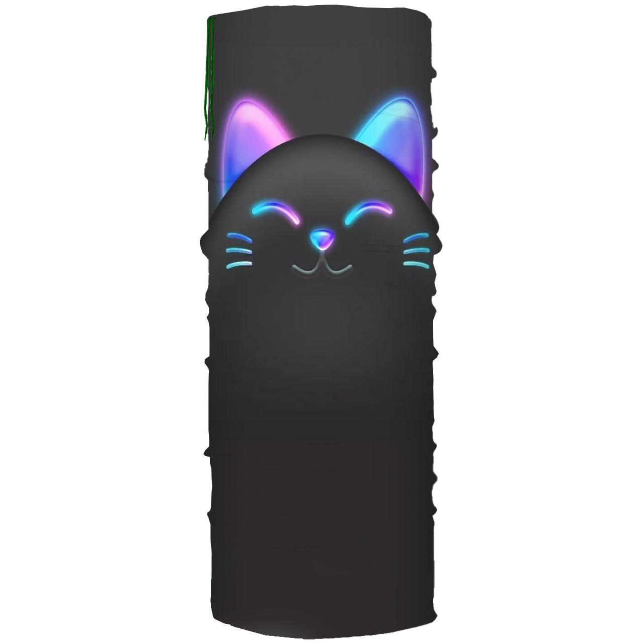 دستمال سر و گردن مدل گربه کد 49 BBB