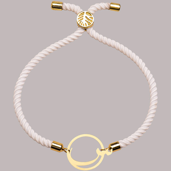 دستبند طلا 18 عیار زنانه کرابو  طرح حرف س مدل Kr2899