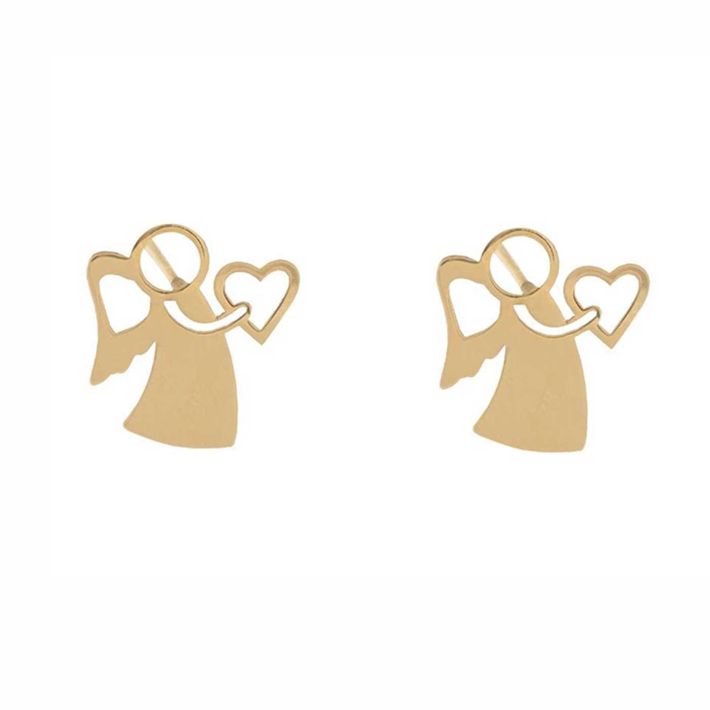 گوشواره طلا 18 عیار زنانه کانیار گالری کد GOA105 -  - 3
