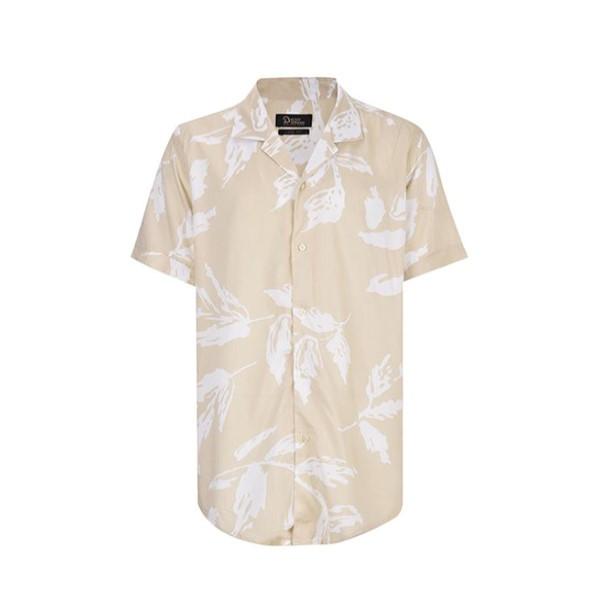 پیراهن آستین کوتاه مردانه بادی اسپینر مدل هاوایی2726 کد 1 رنگ کرم