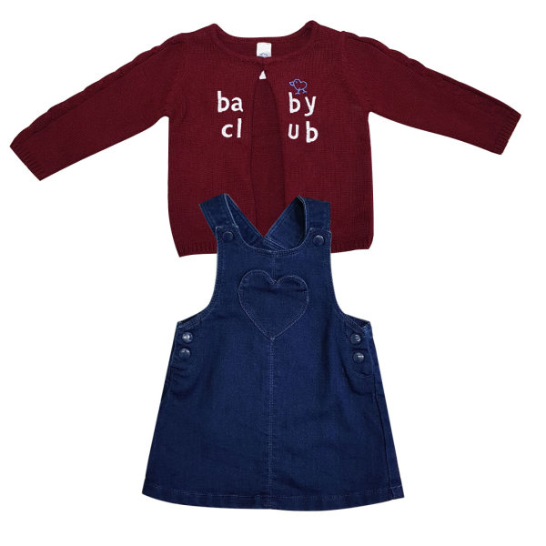 ست سارافون و ژاکت دخترانه بیبی کلاب کد bc01