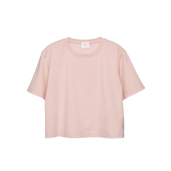 تی شرت آستین کوتاه زنانه کوی مدل 370 رنگ صورتی