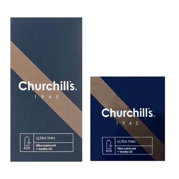 کاندوم چرچیلز مدل Ultra Thin بسته 12 عددی به همراه کاندوم مدل Ultra Thin بسته 3 عددی