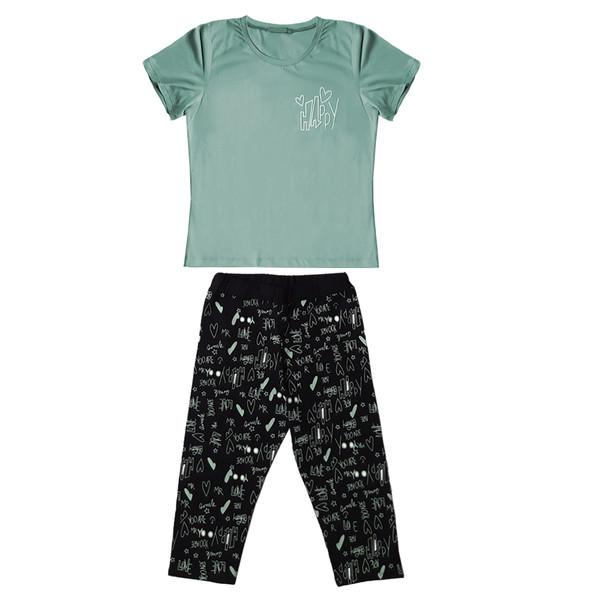 ست تی شرت و شلوارک زنانه کد 1035B
