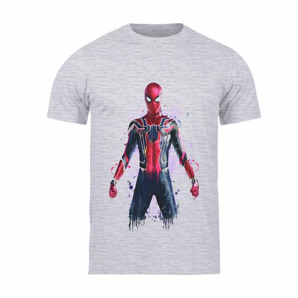 تیشرت آستین کوتاه پسرانه طرح مرد عنکبوتی کد 139 TM