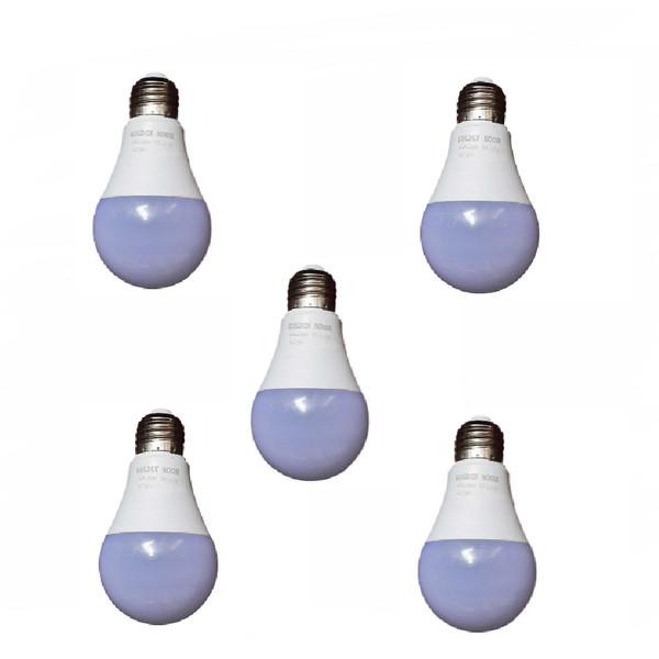 لامپ 9 وات گلدن نور مدل gn9 پایه e27 بسته 5 عددی