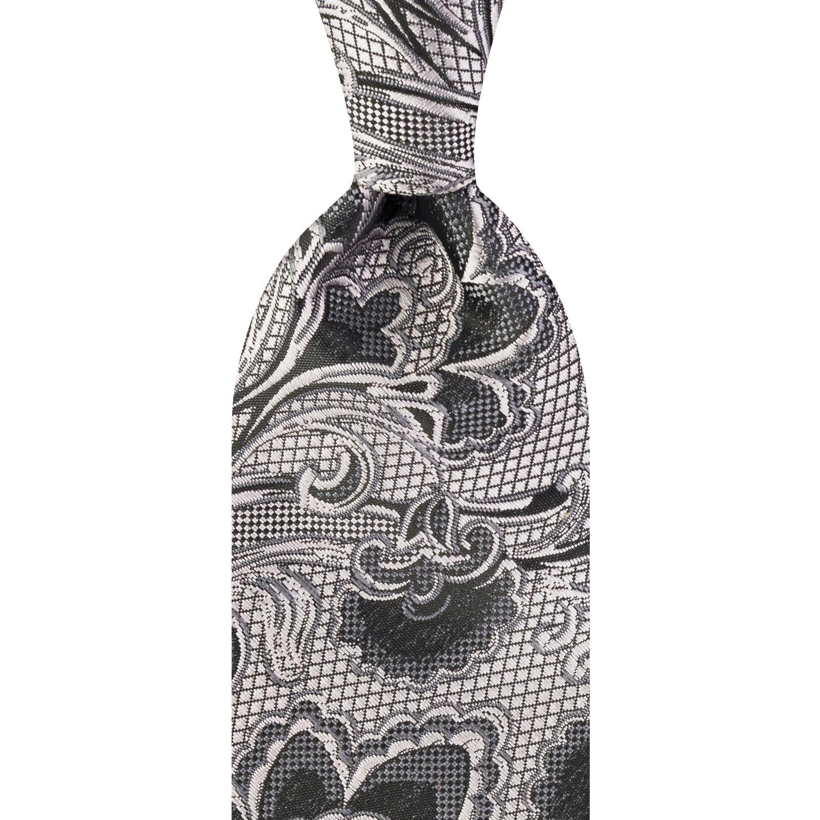 ست کراوات و دستمال جیب و گل کت مردانه جیان فرانکو روسی مدل GF-F926-GR -  - 3