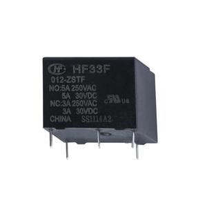 رله 5 پایه هونگفا کد HF33F/012