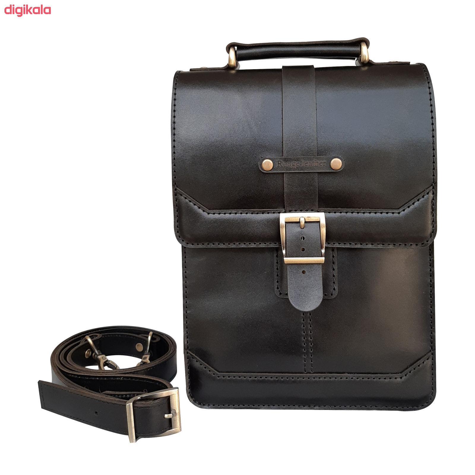 کیف دوشی مردانه چرم روژه مدل ES01B main 1 4