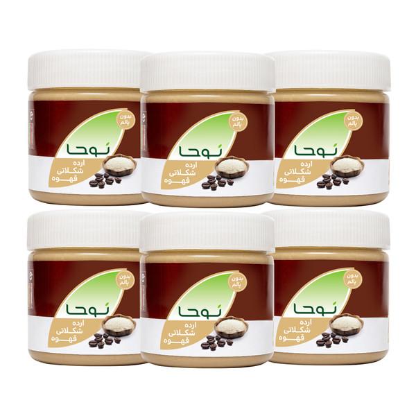 ارده شکلاتی قهوه نوحا - 250 گرم بسته 6 عددی