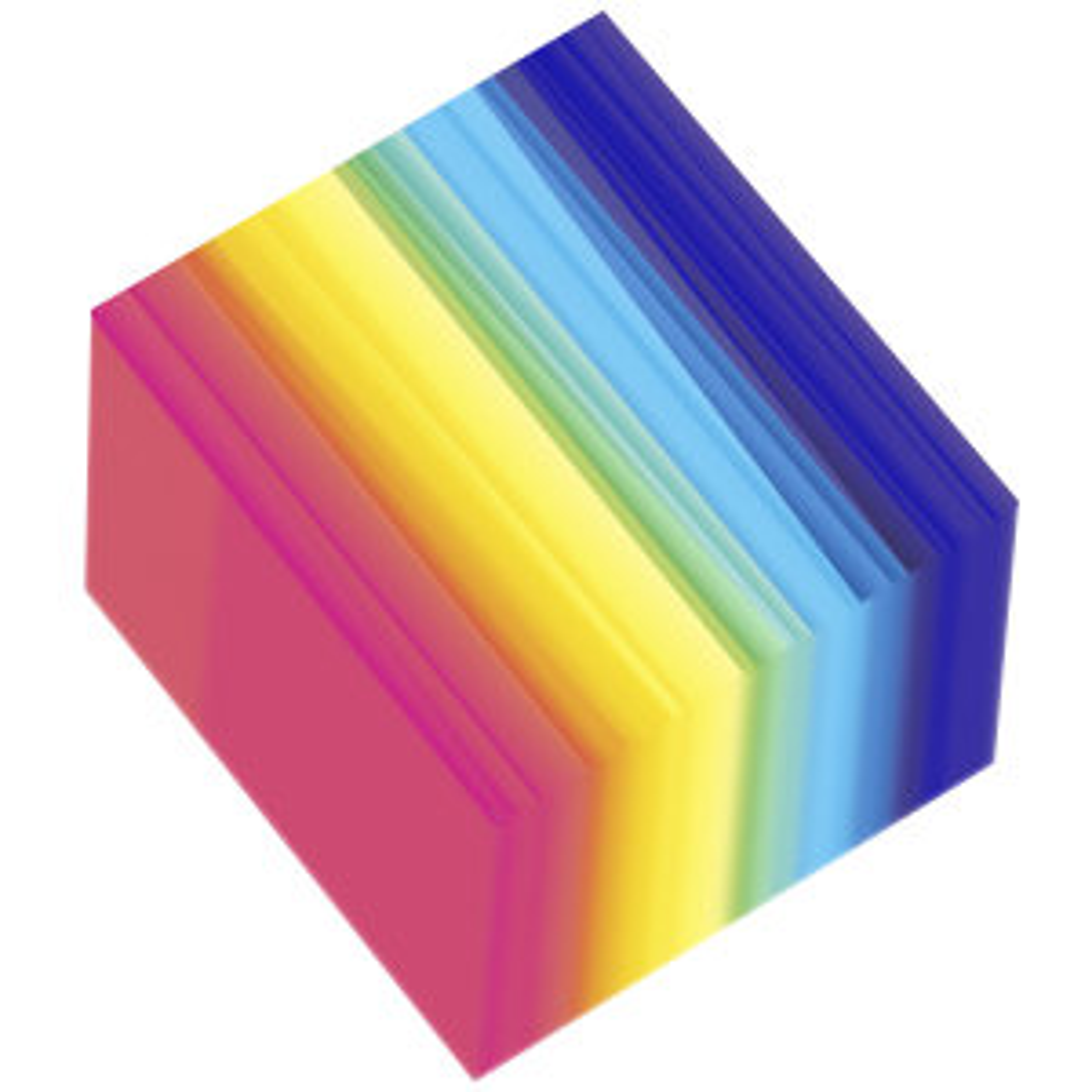 کاغذ رنگی مستر راد مدل رنگین کمان بسته 250 عددی