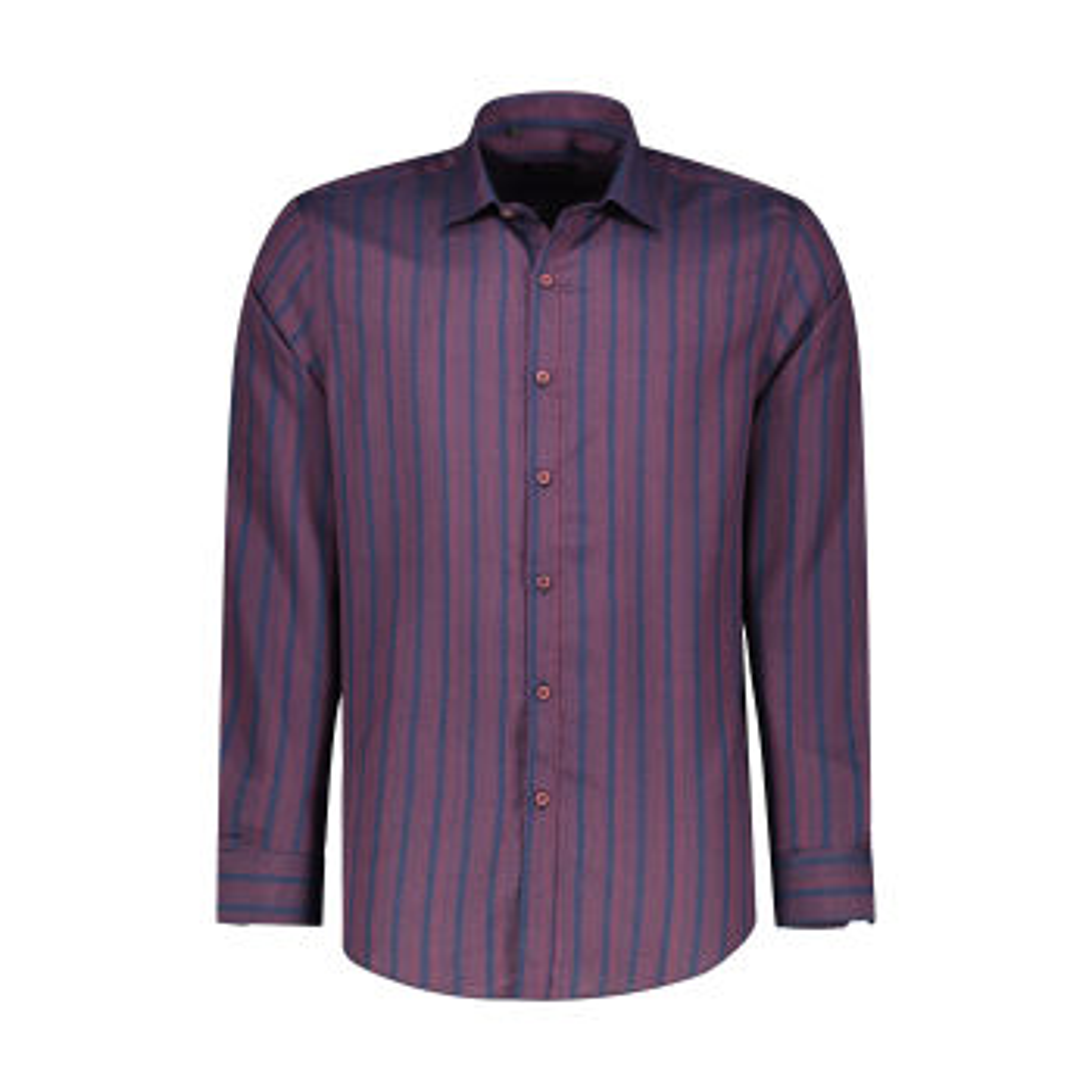 پیراهن آستین بلند مردانه ان سی نو مدل اِلدو رنگ زرشکی