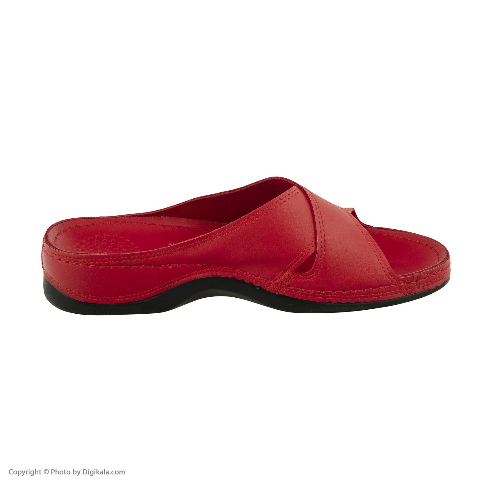 دمپایی زنانه کفش آویده کد av-0304506 رنگ قرمز -  - 4