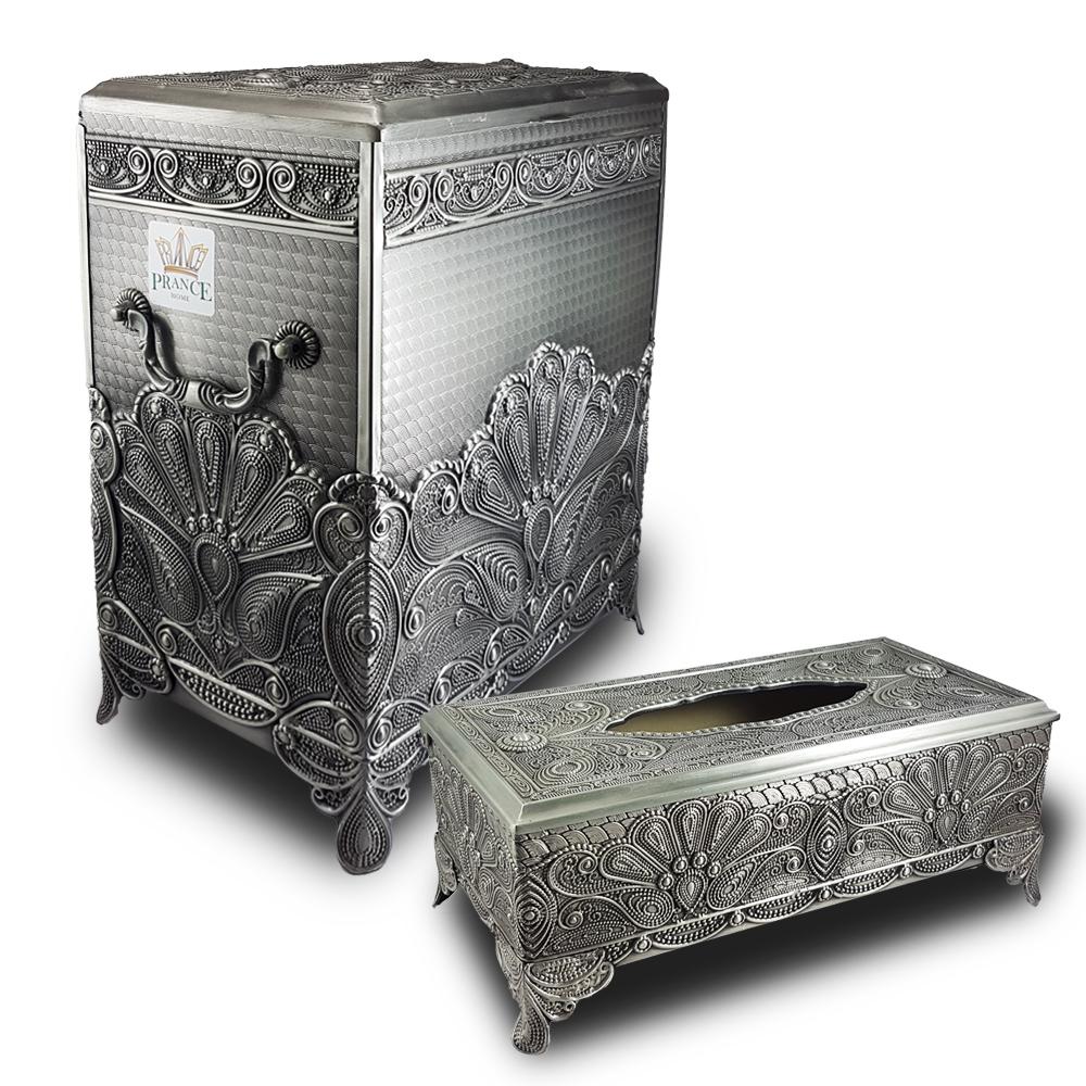 ست سطل و جای دستمال کاغذی پرنس هوم مدل آنجلا کد 130404