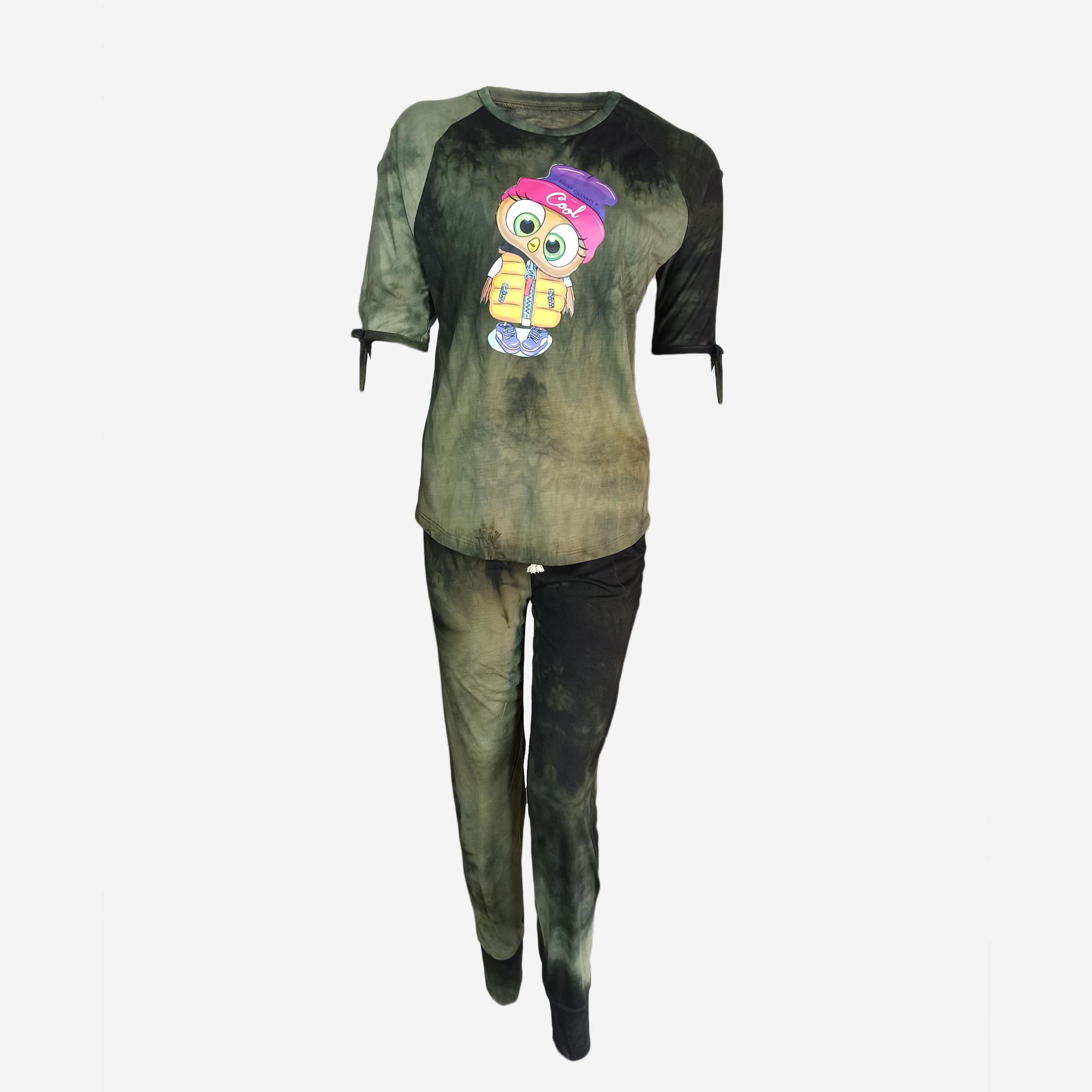 خرید                                      تی شرت آستین کوتاه و شلوار زنانه مدل e2782-2386
