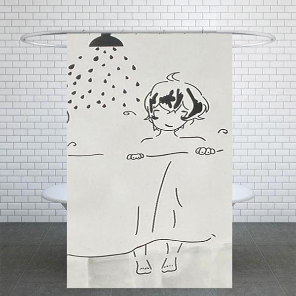پرده حمام کد G154 سایز 180x180 سانتی متر